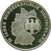Token - 10 years of DM Farewell (50th Anniversary of BRD) – reverse