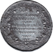 Marriage of Princess Louise to the Marquis of Lorne - Medallion – reverse