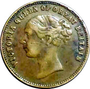 ½ Sovereign - Victoria (Prince of Wales Model; undated) – obverse