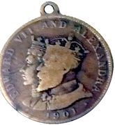 Victoria died/ Edward VII and Alexandra 1901 – obverse