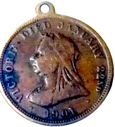 Victoria died/ Edward VII and Alexandra 1901 – reverse