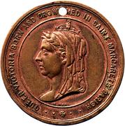St Margarets & St John Westminster 1887 Queen Victoria Jubilee Bronze Medal – obverse