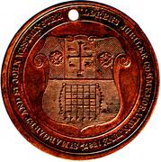 St Margarets & St John Westminster 1887 Queen Victoria Jubilee Bronze Medal – reverse