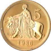 King Edward VIII 1936 - New strike pattern crown – reverse