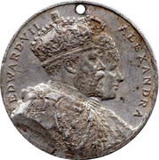 Medallion - Edward VII and Alexandra (Kingsway Aldwych) – obverse