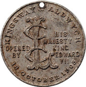 Medallion - Edward VII and Alexandra (Kingsway Aldwych) – reverse