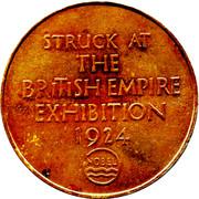 1924 British Empire Exhibition Token – reverse