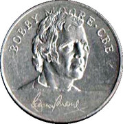 Esso Token - 1970 England World Cup Squad (Bobby Moore CBE) – obverse