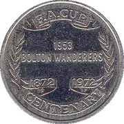 Esso Token - FA Cup Centenary 1872-1972 (Blackpool) – reverse