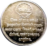 Shell Token - Morris Mini-Minor 1959 – reverse