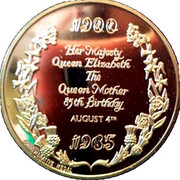 Queen Mother 85th Birthday – reverse