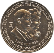 Token - Wedding of Prince Andrew and Miss Sarah Fergusson – obverse