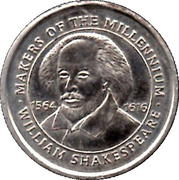 Token - Makers of the Millennium (William Shakespeare) – obverse