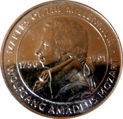 Token - Makers of the Millennium (Wolfgang Amadeus Mozart) – obverse