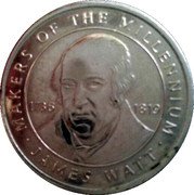 Token - Sainsbury's Makers of the Millennium (James Watt) – obverse