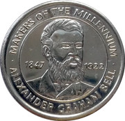Token - Sainsbury's Makers of the Millennium (Alexander Graham Bell) – obverse