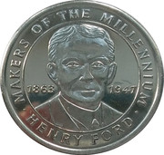 Token - Sainsbury's Makers of the Millennium (Henry Ford) – obverse
