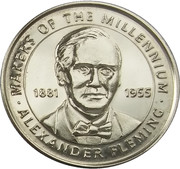 Token - Sainsbury's Makers of the Millennium (Alexander Fleming) – obverse