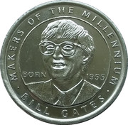 Token - Sainsbury's Makers of the Millennium (Bill Gates) – obverse
