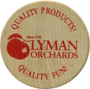 Wooden Nickel - Lyman Orchards; CT – obverse