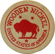 Wooden Nickel - Lyman Orchards; CT – reverse