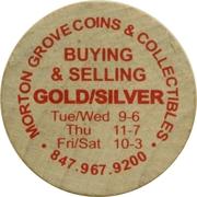 Wooden Nickel - Morton Grove Coins – obverse