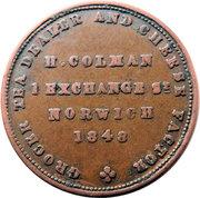 ¼ Penny (Norfolk - Norwich / H. Colman) – obverse