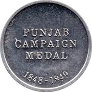Cleveland Petrol Token - Punjab Campaign medal 1848-1849 – reverse