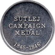 Cleveland Petrol Token - Sutlej Campaign medal 1845-1846 – reverse