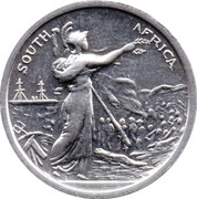 Cleveland Petrol Token - Queen's South Africa medal 1899-1902 – obverse