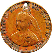 Commemorating the reign of Queen Victoria – obverse