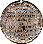 The East and West India Docks Company Medallion – reverse