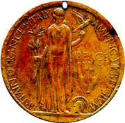 The Great War Peace Medallion – reverse