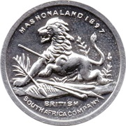 Cleveland Petrol Token - British South Africa Company's medal 1890-1897 – obverse