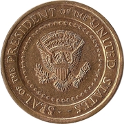 Token - John F. Kennedy (Seal of the President of the United States) – reverse
