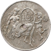 Token - Woman and fairy – obverse