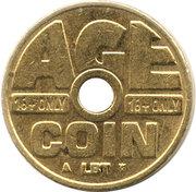 Cigarette Vending Token - Age Coin (LBT) – obverse