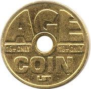 Cigarette Vending Token - Age Coin (LBT) – reverse