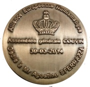 Token - Numismatic Club of Couvin – reverse