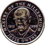 Token - Sainsbury's Makers of the Millennium (Jesse Owens) – obverse