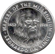 Token - Sainsbury's Makers of the Millennium (Leonardo da Vinci) – obverse