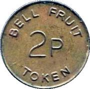 2 Pence - Bell Fruit Token – obverse