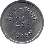 2½ Pence - Bell-Fruit Token – reverse