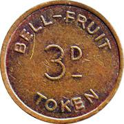 3 Pence - Bell-Fruit Token – reverse