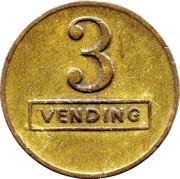 3 Pence - A (Vending Token) – reverse