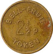 2½ Pence - Bell-Fruit Token (2 I/2) – reverse
