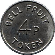 4 Pence - Bell Fruit Token (Copper-nickel) – reverse