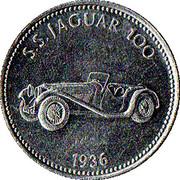 Token - Shell (S.S. Jaguar 100 1936) – obverse