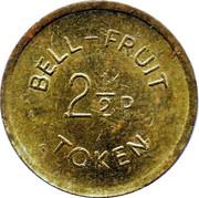 2½ Pence - Bell-Fruit Token – obverse