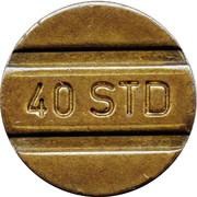 Telephone Token - 40 STD – obverse